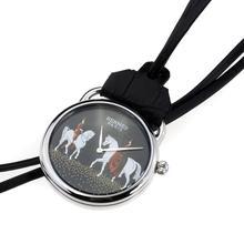 Replique Hermes Arceau Pocket Watch Amazones avec cadran noir 36656