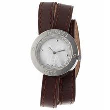 Replique Hermes classique MOP Dial Brown Leather Strap avec-Taille-Dame - Attractive Hermes montre classique pour vous 36924