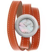 Replique Hermes classique MOP Dial avec cuir orange Strap-Taille-Dame - Attractive Hermes montre classique pour vous 36922
