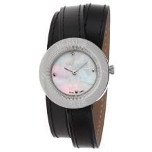 Replique Hermes classique MOP cadran avec bracelet en cuir-Noir Taille Dame - Attractive Hermes montre classique pour vous 36918