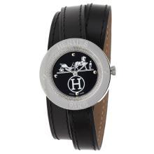 Replique Hermes Classic Black Dial avec bracelet en cuir-Noir Taille Dame - Attractive Hermes montre classique pour vous 36917