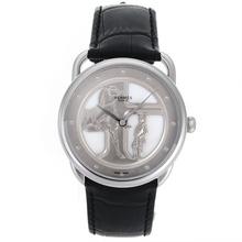 Replique Hermes Arceau Duc Attelé automatique avec MOP Dial-bracelet en cuir 36898