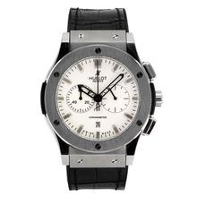 Replique Hublot Big Bang chronographe de travail avec cadran blanc-bracelet en caoutchouc - Attractive Hublot Big Bang Montre pour vous 30064