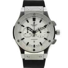 Replique Hublot Big Bang King travail Chronographe avec cadran blanc-bracelet en caoutchouc - Attractive Hublot Big Bang King montre pour vous 30026