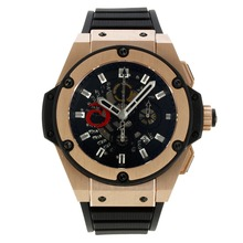 Replique Hublot King Power Alinghi Swiss Chronograph Valjoux 7750 Mouvement avec or rose Case-bracelet gomme 30010
