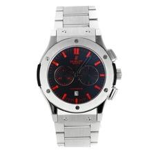 Replique Hublot Big Bang chronographe de travail avec cadran noir-rouge Marqueurs S / S - Attractive Hublot Big Bang montre pour vous 29990