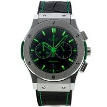 Replique Hublot Big Bang chronographe de travail avec cadran noir-vert Marqueurs - Attractive Hublot Big Bang Montre pour vous 29985