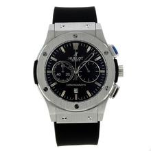 Replique Hublot Big Bang travail Chronographe avec bracelet en caoutchouc noir Cadran-Black - Belle Montre Hublot Big Bang pour vous 29966