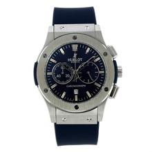 Replique Hublot Big Bang travail chronographe avec bracelet en caoutchouc bleu Cadran-Bleu - Attractive Hublot Big Bang Montre pour vous 29963