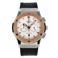 Replique Hublot Big Bang chronographe de travail lunette en or rose avec cadran blanc - Attractive Hublot Big Bang Montre pour vous 29960