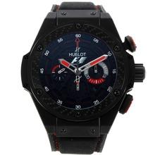 Replique Hublot King Power F1 Édition chronographe suisse Valjoux 7750 Mouvement PVD noir avec marqueurs de bâton cadran noir- 29922