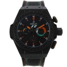 Replique Hublot King Power F1 Édition chronographe suisse Valjoux 7750 Mouvement PVD affaire avec Black Dial marqueurs de bâton et à l'orange 29920