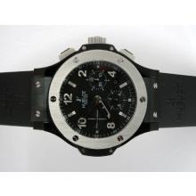 Replique Hublot Big Bang chronographe suisse Valjoux 7750 Mouvement PVD affaire avec cadran noir-Bracelet Caoutchouc - Attractive Hublot Big Bang Montre pour vous 30788