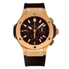 Replique Hublot Big Bang chronographe suisse Valjoux 7750 Mouvement boîtier en or rose avec cadran blanc - Attractive Hublot Big Bang Montre pour vous 29826