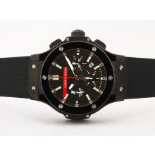 Replique Hublot Big Bang chronographe suisse Luna Rossa Valjoux 7750 Mouvement PVD noir Case & Lunette - Attractive Hublot Big Bang Montre pour vous 30777