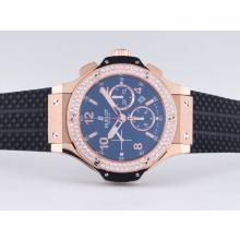 Replique Hublot Big Bang chronographe suisse Valjoux 7750 Mouvement or rose Case-Diamond Bezel - Attractive Hublot Big Bang Montre pour vous 30775