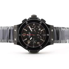 Replique Hublot Big Bang chronographe suisse Valjoux 7750 Mouvement PVD affaire-céramique Lunette - Attractive Hublot Big Bang Montre pour vous 30762