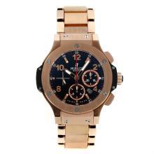 Replique Hublot Big Bang Chronographe Asie Valjoux 7750-Full Rose Gold Bracelet - Attractive Hublot Big Bang Montre pour vous 30760