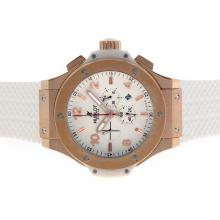 Replique Hublot Big Bang King-Chronographe en or rose avec cadran blanc-48MM Version - Attractive Hublot Big Bang King Montre pour vous 30671