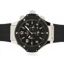 Replique Hublot Big Bang King-Chronographe PVD Lunette avec style fibre de carbone cadran noir-48MM Version - Attractive Hublot Big Bang King Montre pour vous 30669
