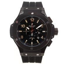 Replique Hublot Big Bang King-Chronographe PVD affaire avec style fibre de carbone cadran noir-48MM Version - Attractive Hublot Big Bang King Montre pour vous 30668