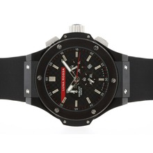Replique Hublot Big Bang Luna Rossa-Chronographe PVD affaire avec style fibre de carbone cadran noir-48MM Version - Attractive Hublot Big Bang Montre pour vous 30667