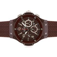 Replique Hublot Big Bang chronographe suisse Valjoux 7750 Mouvement-Brown complet de l'affaire Céramique - Attractive Hublot Big Bang Montre pour vous 30649