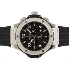 Replique Hublot Big Bang King travail Chronographe avec style fibre de carbone cadran noir-48MM Version - Attractive Hublot Big Bang King montre pour vous 30642