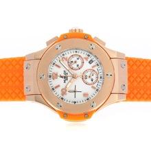 Replique Hublot Big Bang chronographe de travail boîtier en or rose avec Orange Strap-verre de saphir - Attractive Hublot Big Bang Montre pour vous 30637