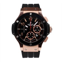 Replique Hublot Big Bang chronographe suisse Valjoux 7750 Mouvement or rose Case-céramique Lunette - Attractive Hublot Big Bang Montre pour vous 30631
