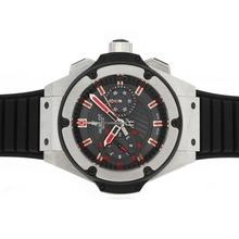 Replique Hublot Big Bang King chronographe suisse Valjoux 7750 Mouvement avec Red Rubber Strap-marqueurs - Attractive Hublot Big Bang King montre pour vous 30609