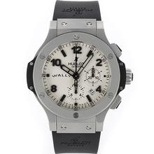 Replique Hublot Big Bang chronographe suisse Valjoux 7750 Mouvement givré de cas Rubber Strap - Attractive Hublot Big Bang Montre pour vous 30489