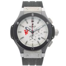 Replik Hublot Red Devil Bang Tuiga 1909 Working Chronograph Ceramic Bezel with White Dial-Rubber Strap – Attractive Hublot Red Devil Bang Watch for You 30421