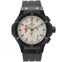 Replik Hublot Red Devil Bang Tuiga 1909 Working Chronograph PVD Case Ceramic Bezel with White Dial-Rubber Strap – Attractive Hublot Red Devil Bang Watch for You 30420