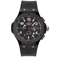 Replique Hublot Big Bang Tuiga 1909 Chrono PVD affaire de travail avec Black Dial-Checkered même châssis que la version 7750-Haute Qualité - Attractive Hublot Big Bang Montre pour vous 30385