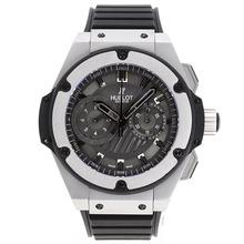 Replique Hublot Big Bang King chronographe suisse Valjoux 7750 Mouvement avec cadran noir-Bracelet Caoutchouc - Attractive Hublot Big Bang Montre pour vous 30274