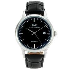 Replique IWC marqueurs classiques de bâton automatique avec cadran noir-18K Mouvement plaqué or - Attractive Autres IWC montre pour vous 32031