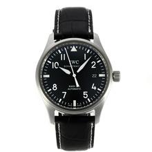 Replique Pilot IWC Mark XVI Swiss ETA 2892 Mouvement avec cadran noir bracelet en cuir-Noir - Attractive IWC Montre d'Aviateur pour vous 31929