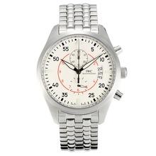 Replique IWC Pilot Chronograph Top Gun Miramar de travail avec cadran blanc S / S - Montre d'Aviateur IWC attrayant pour vous 31851