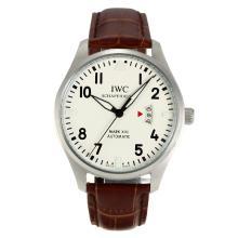 Replique IWC Mark XVII pilote automatique avec cadran blanc - Bracelet en Cuir - Montre Pilot IWC attrayant pour vous 31845
