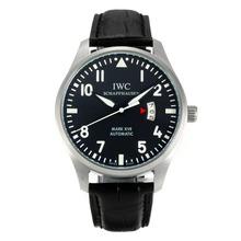 Replique IWC Mark XVII pilote automatique avec cadran noir - Bracelet en Cuir - Montre Pilot IWC attrayant pour vous 31844