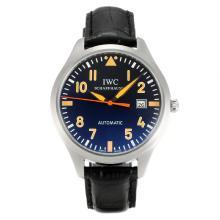 Replique CBI classique automatique avec cadran noir-bracelet en cuir - Attractive Autres IWC montre pour vous 31838
