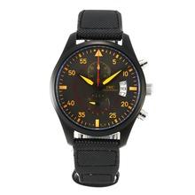 Replique IWC Top Gun Miramar Pilot Chronograph de travail complet PVD avec cadran noir-orange Marqueurs - Attractive Montre d'Aviateur IWC pour vous 31822