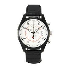 Replique IWC Top Gun Miramar Pilot Chronographe PVD affaire de travail avec sangle en nylon blanc Dial-Black - Montre d'Aviateur IWC attrayant pour vous 31821