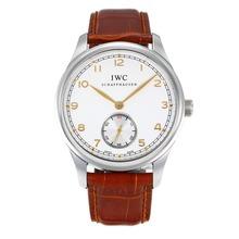 Replique IWC Portugaise suisse ETA 2824 automatique avec White Dail-verre saphir jaune-marqueurs - Attractive IWC Portugaise montre pour vous 31813