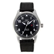 Replique Les pilotes IWC Mark XVII Swiss ETA 2824 Mouvement automatique avec cadran noir-bracelet en cuir-Saphir - Montre d'Aviateur IWC attrayant pour vous 31793