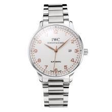 Replique IWC Portofino Automatic avec cadran blanc-or rose Marqueur S / S 31756