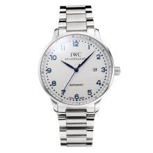 Replique IWC Portofino Automatic avec cadran blanc-bleu Marqueur S / S 31755