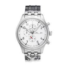 Replique IWC Saint Exupery chronographe de travail avec cadran blanc S / S - Attractive Autres IWC montre pour vous 31693