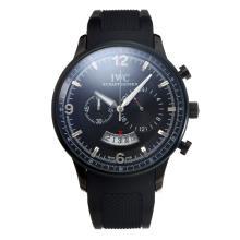 Replique IWC Chronographe PVD affaire de travail avec cadran noir-Bracelet Caoutchouc - Attractive Autres IWC montre pour vous 31673
